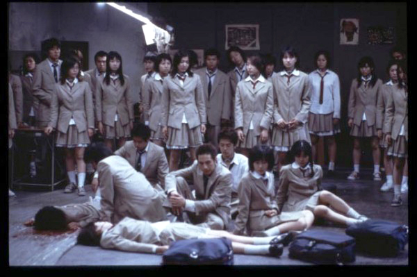 Scene from the movie Battle Royale.