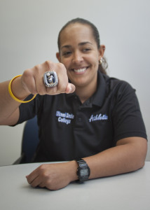 Alysia Dyer showing off her ring.