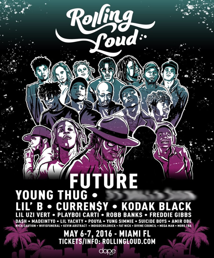 Promotional poster for Rolling Loud.