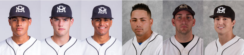 Headshot of the MDC baseball players who were drafted into the Major Leagues.