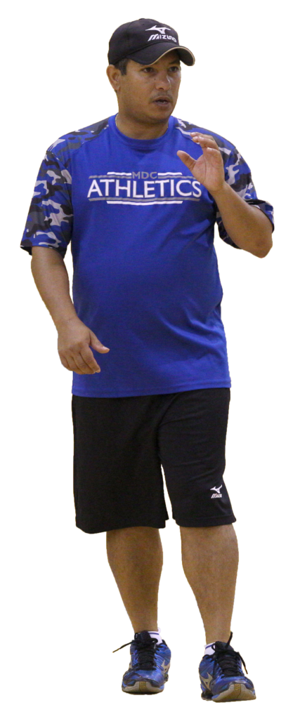 Cut out image of Coach Origenes Benoit.