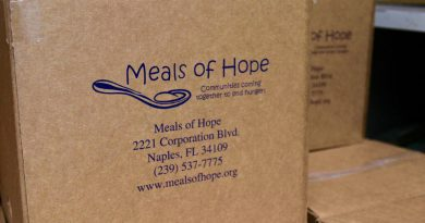 "A package of ""Meals of Hope"" ready to be sent to Haiti."