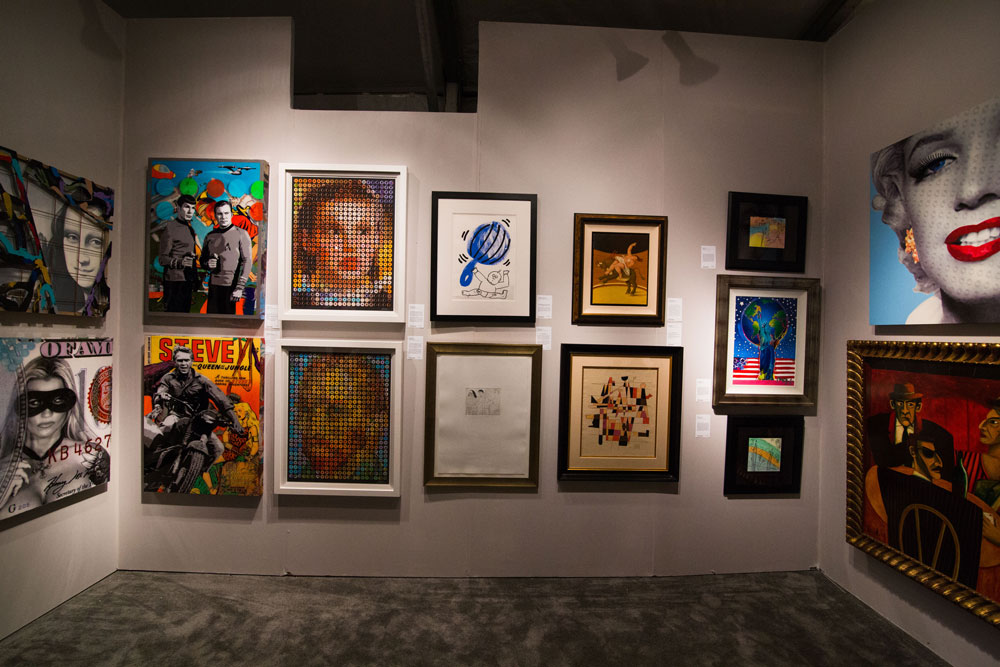 Artworks on display at Art Basel Miami.