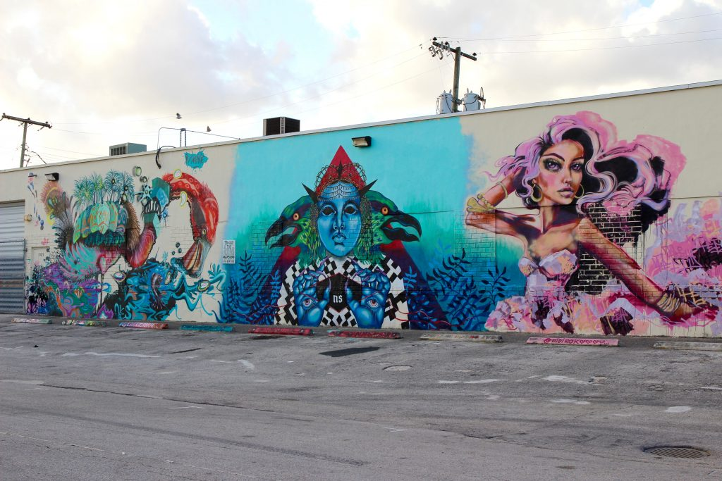 Several of the murals in the Leah Art District.