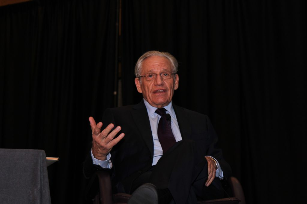 Journalist Bob Woodward speaking at the event.