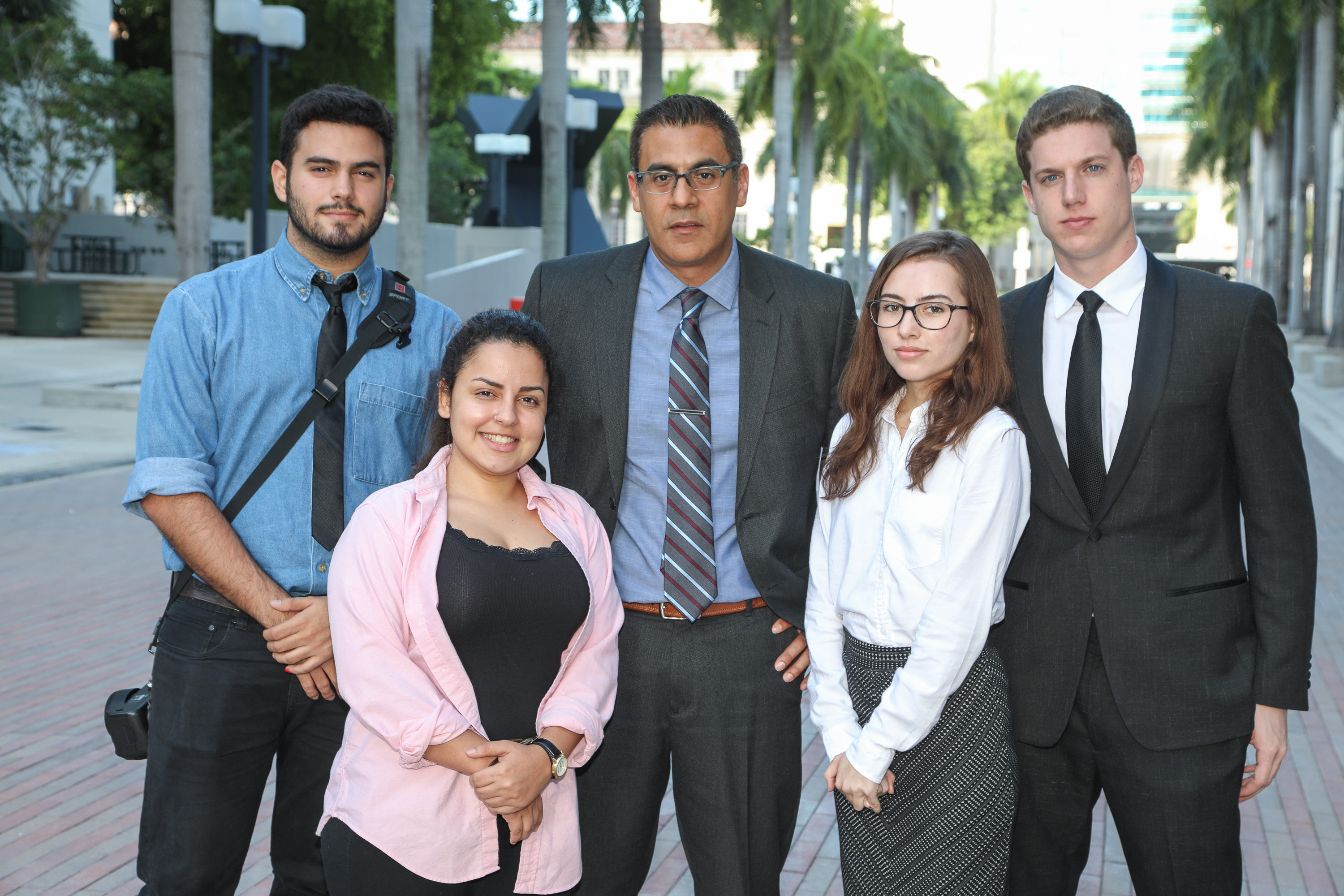 Part of the current staff at The Reporter