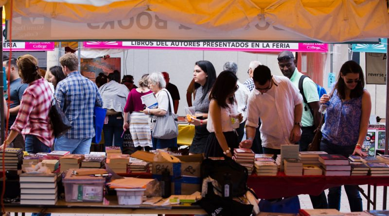 People at the Miami Book Fair.