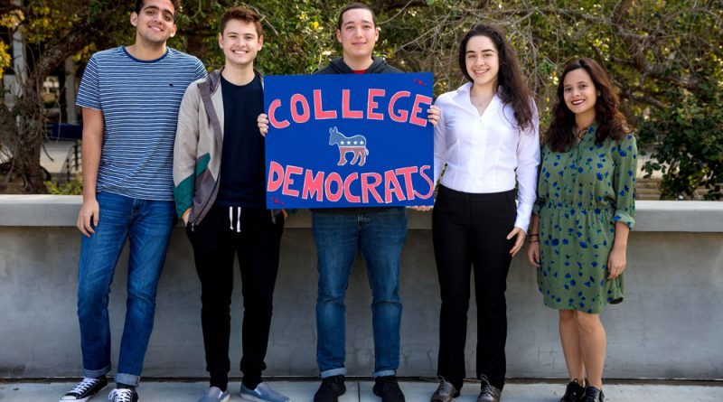 Members of the College Democrats-Kendall Campus posing for the camera.
