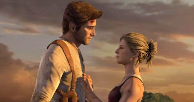 Scene from the video game Uncharted.