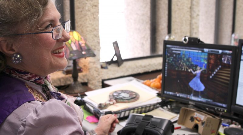 Professor Christine Robinson in her office.