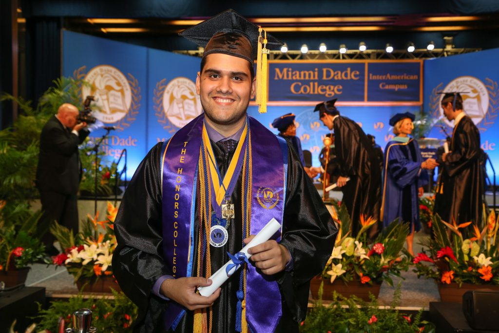 Photo of student Reynier Montalvan at graduation.