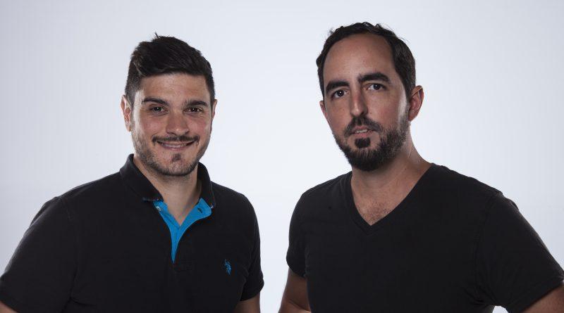 Thomas Demos and Marvin Aguado posing for the camera.