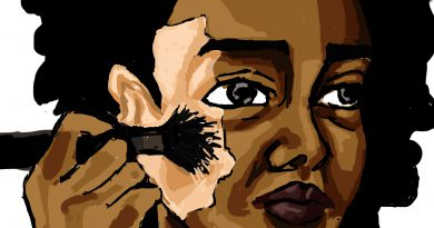 Racism illustration by Aminah Brown.