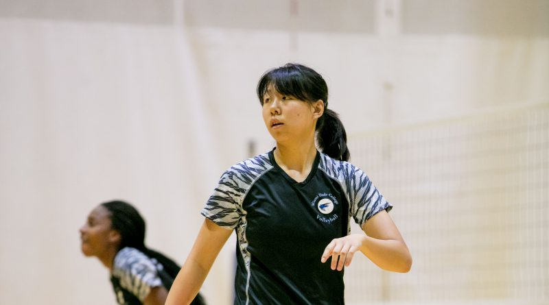 Photo of Sun Wenting on the court.