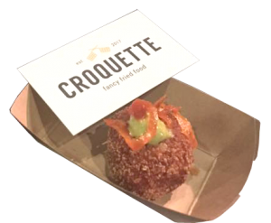 Image of one of their croquetas.