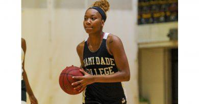Savannah Clark on the court during practice.