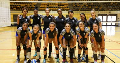 MDC Lady Sharks volleyball team.