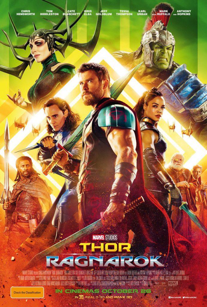 Poster for the movie Thor: Ragnorak.