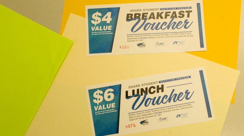 Vouchers for free meals.