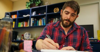 Alexander Sorondo at his desk.