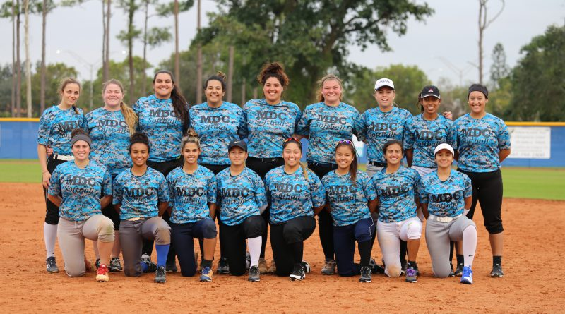 The new Lady Sharks softball team.
