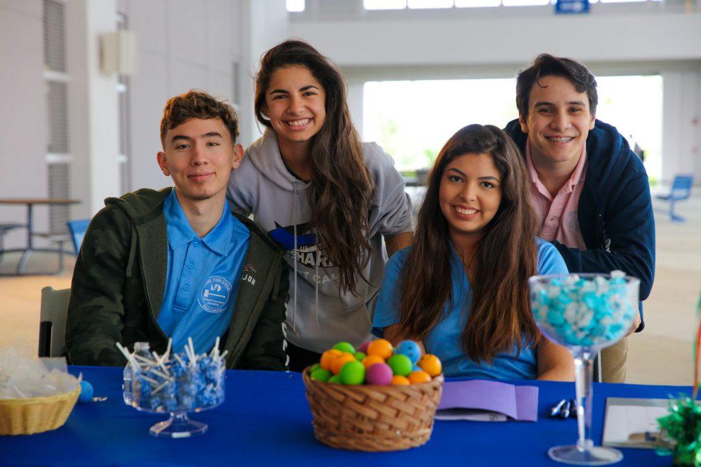 Students at Club Rush.