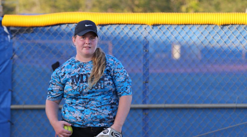 Softball pitcher Emma Maitland at practice.