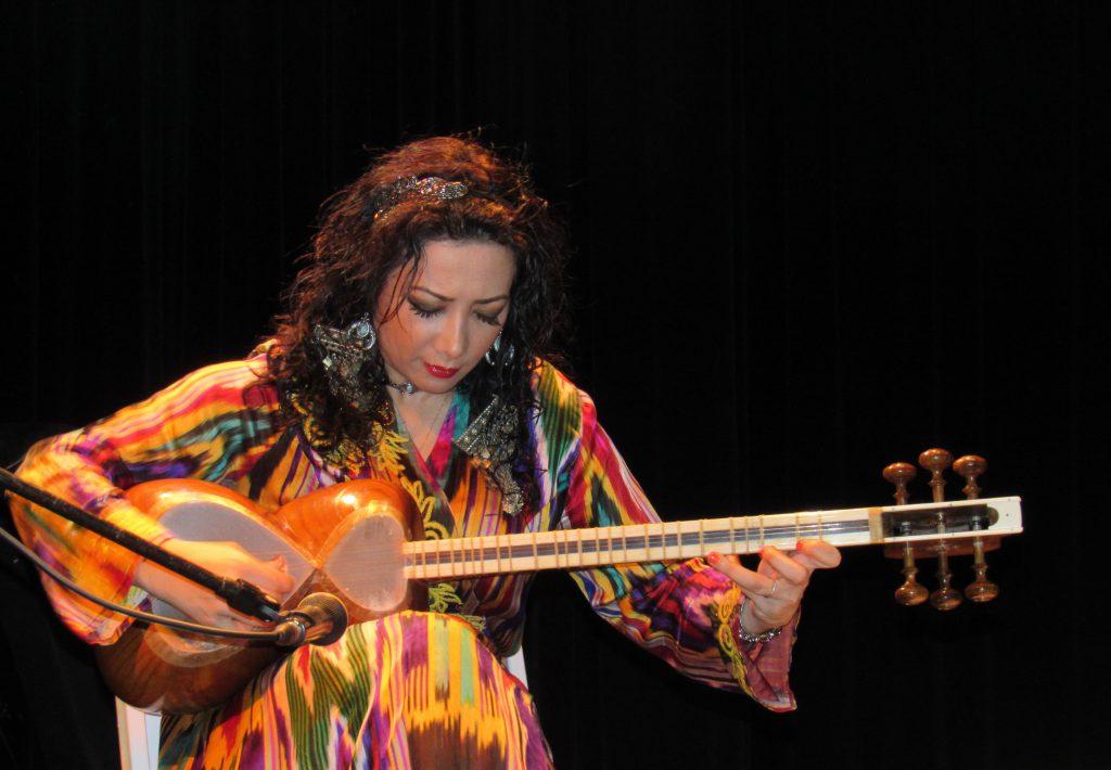 Photo of Sahba Motallebi on stage.
