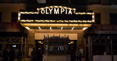 Outside the Olympia Theatre.