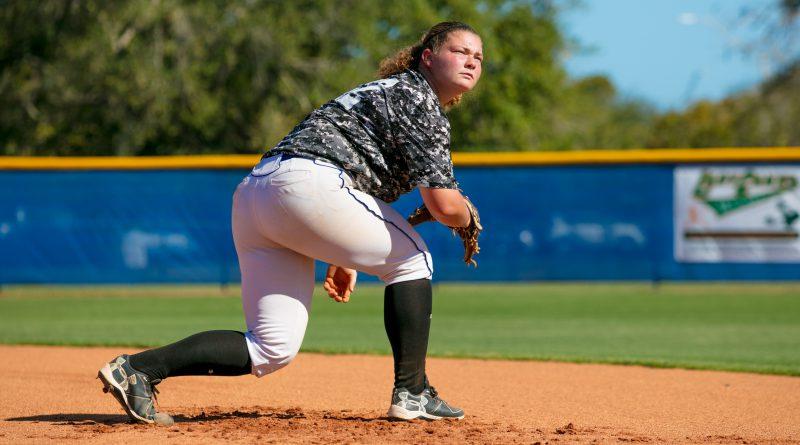 Tiffany Dodson at the mound.