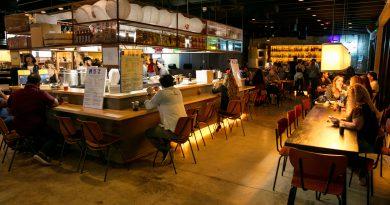 Inside the restaurants.