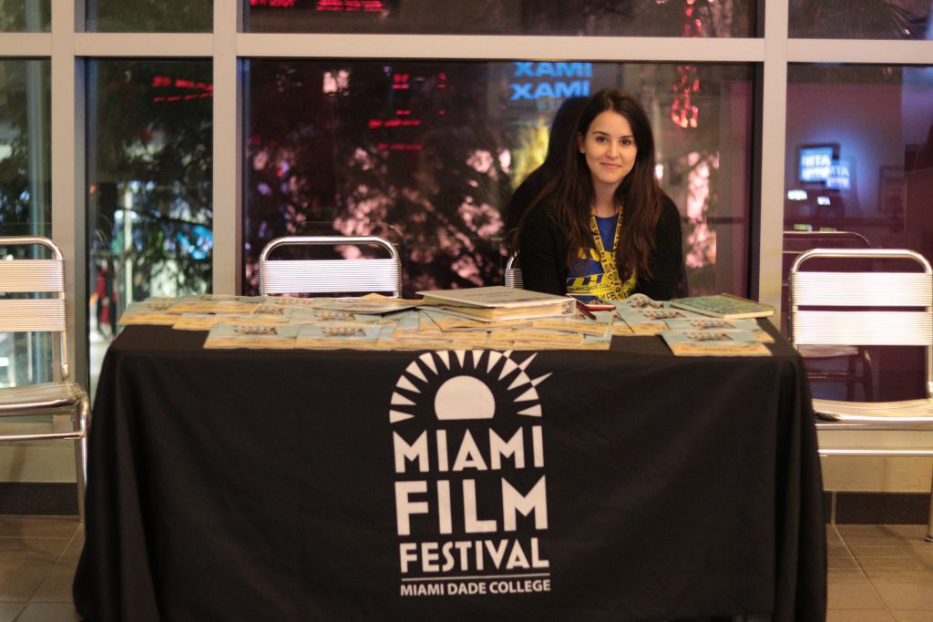 A volunteer for MIFF.