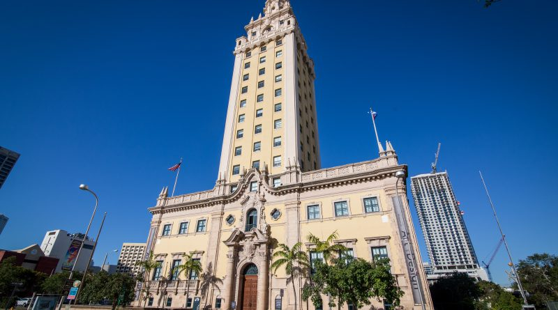 The Freedom Tower in downtown Miami.