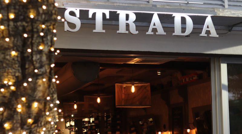 Strada sign above the entrance.