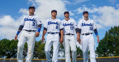 MDC baseball players posing for the camera.
