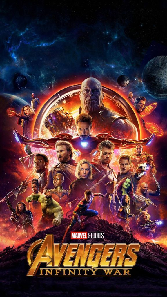 Movie poster of Avengers: Infinity War.