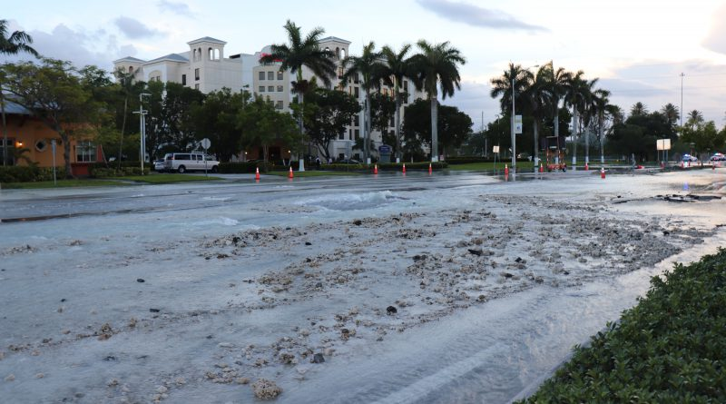 Water Main Break in Doral.