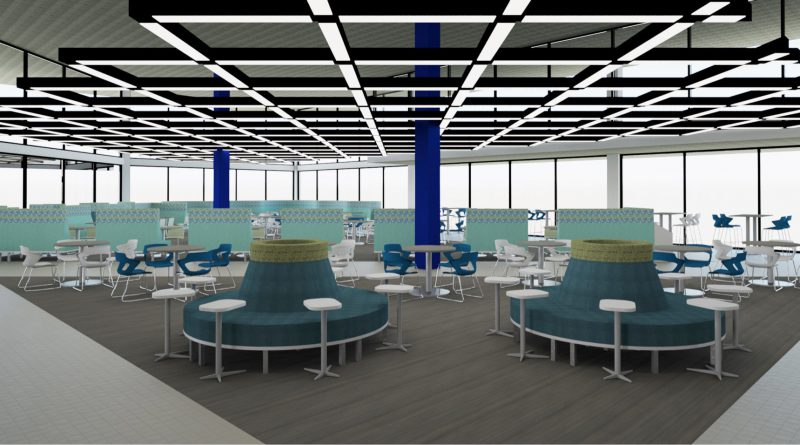 New design for one of the cafeterias.