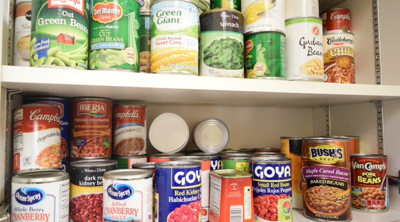 Several different cans of food.