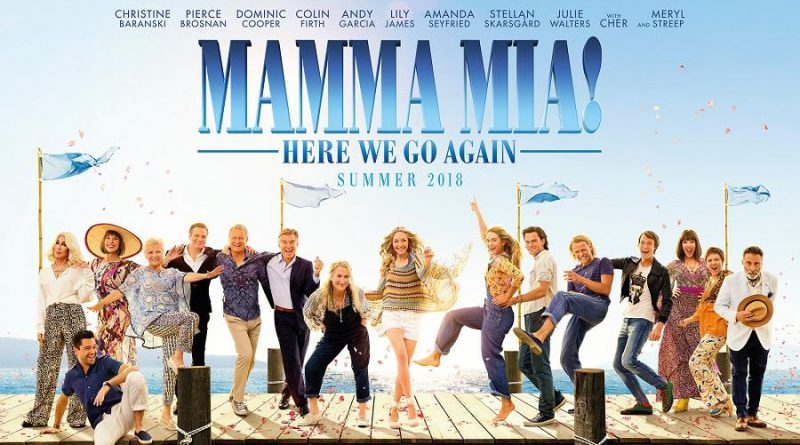Movie poster for Mamma Mia! Here We Go Again.
