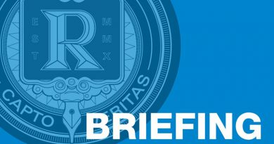 "Image with the word ""Briefing"" and The Reporter Logo"
