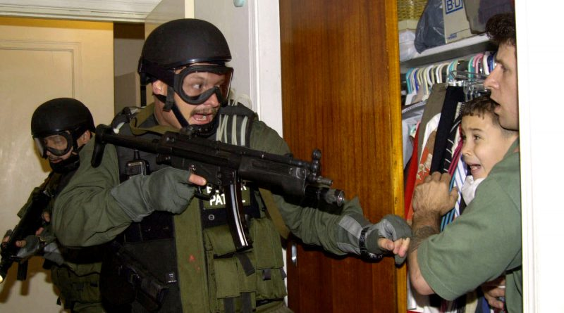 Famous photo during the Elian Gonzalez saga.