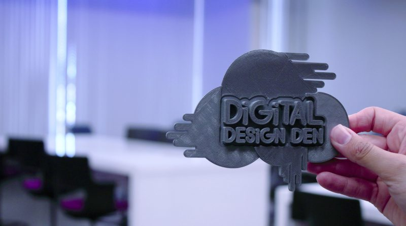 Logo for the Digital Design Den.