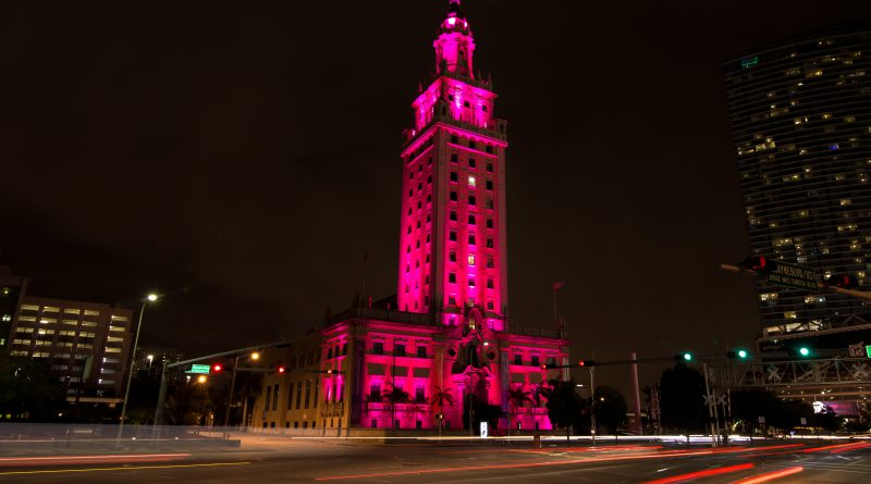 Photo of the Freedom Tower in downtown Miami.