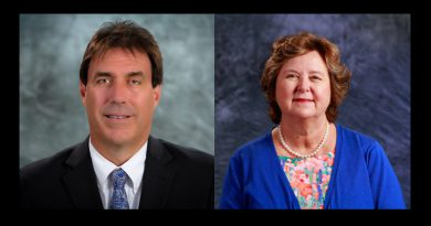Headshots of the new president and dean of Medical Campus.