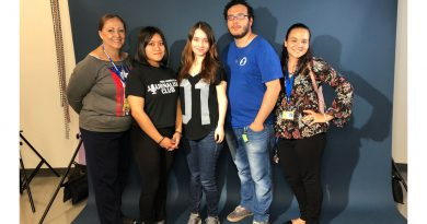 Pictured here are Magdalena Lamarre, Merlina Ramirez, Karen Hejia, Daniel Ponce and Paola Arroyo.