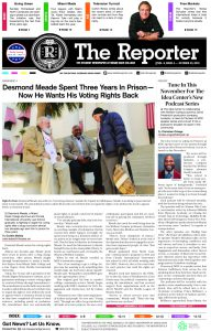 The latest issue for the Reporter. Here is the digital version.