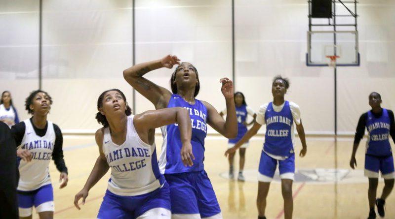 Deidra Harris on the court.