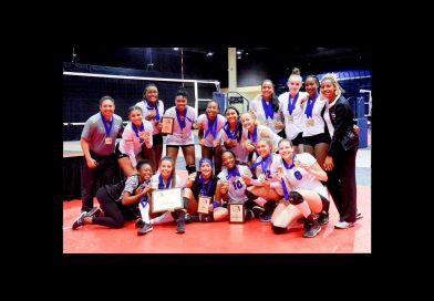 Lady Sharks volleyball team.
