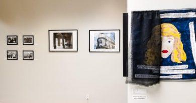 Art exhibit at West Campus.